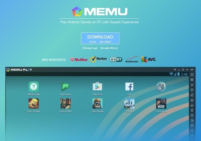memu android emulator for windows 7