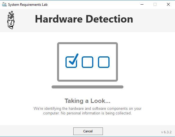 متطلبات النظام معمل الكشف عن الأجهزة